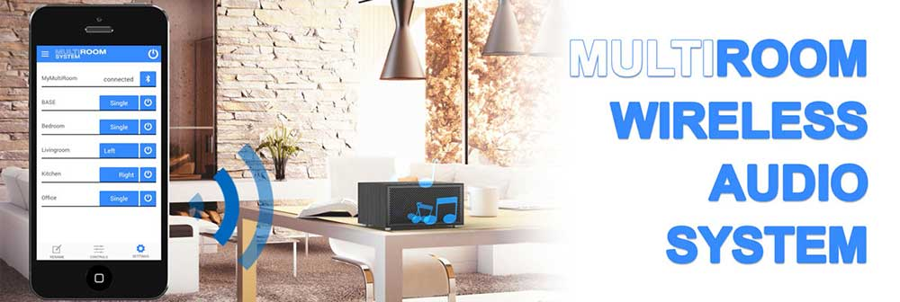Multiroom Audio System Speakers