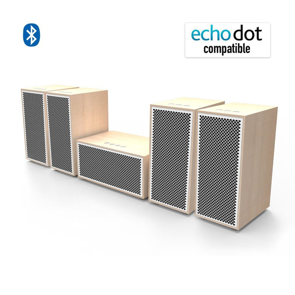 multi room audio system 5 speaker package walnut av express. Black Bedroom Furniture Sets. Home Design Ideas