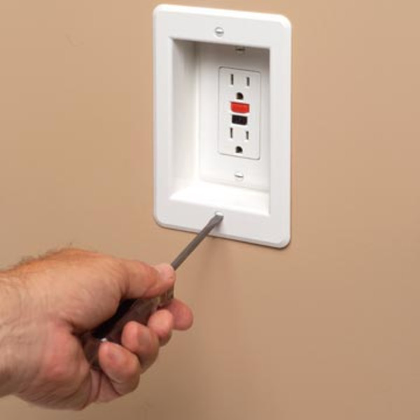 Recessed Electrical Outlet Box By