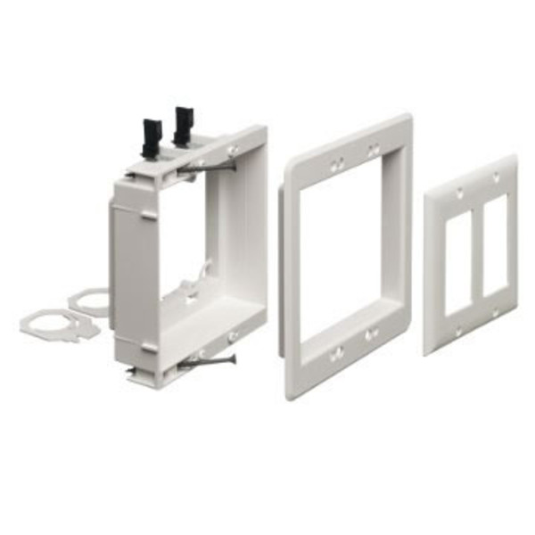 Low Voltage Wall Mounting : Recessed two gang low voltage box by arlington lvu w av