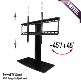 With swivel and height adjustment