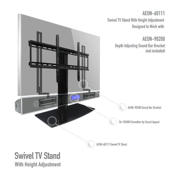 Universal Tabletop Tv Stand Swivel Height Adjustment