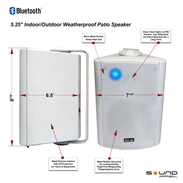 Bluetooth Outdoor Stereo Speakers