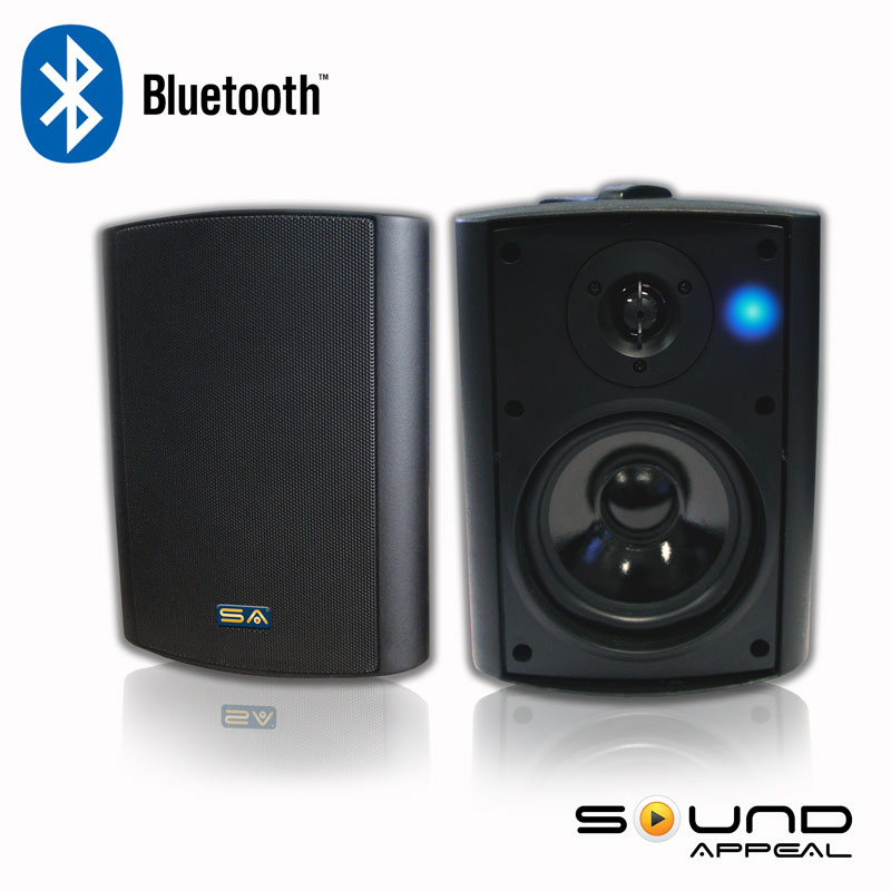 Bluetooth Outdoor Speakers For Patio Or Pool With Long Range Bluetooth  Technology. Sound Appeal SA BLAST5 W ||AV Express