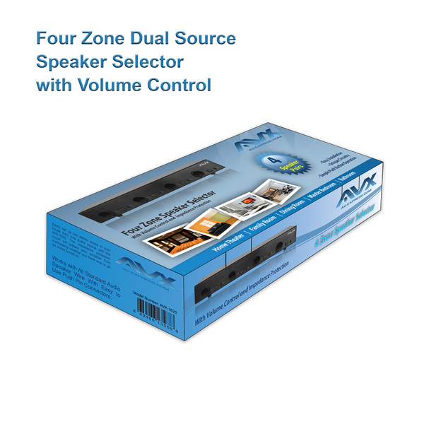 Four 4 Zone Dual source Speaker Selector with volume control || AV ...
