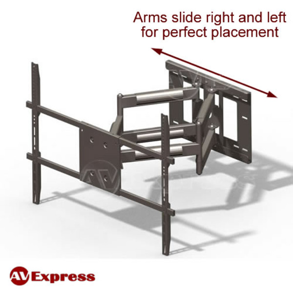 articulating full motion tv wall mount with long arm av express. Black Bedroom Furniture Sets. Home Design Ideas
