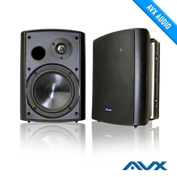 Outdoor Black Weatherproof Patio Speaker High Quality Cabinet And Compeively Priced Av Express