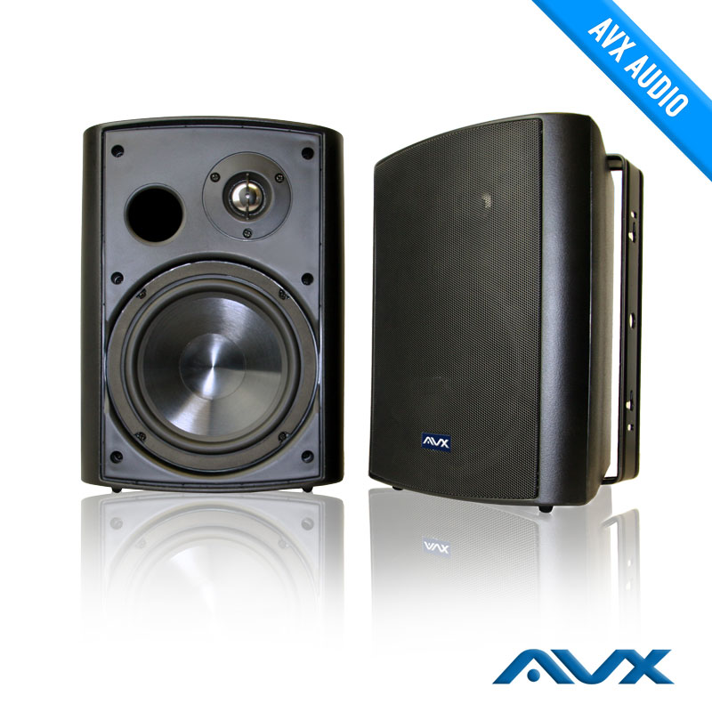 Outdoor Black Weatherproof Patio Speaker High Quality Cabinet And  Competitively Priced   AV Express
